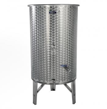 Úszófedeles INOX bortartály 380 l, 3 csapos Kép