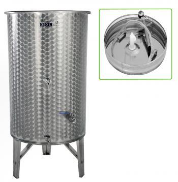 Úszófedeles INOX bortartály 380 l, 3 csapos, pumpás szettel Kép
