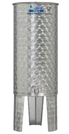 Úszófedeles INOX bortartály 50 l Kép