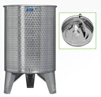 Úszófedeles INOX bortartály 500 l, 1 csapos, pumpás szettel Kép