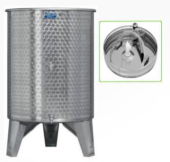 Úszófedeles INOX bortartály 500 l, 2 csapos, pumpás szettel Kép