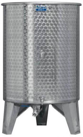 Úszófedeles INOX bortartály 500 l, 3 csapos Kép