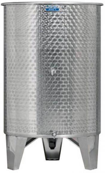 Úszófedeles INOX bortartály 600 l, 2 csapos Kép