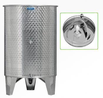 Úszófedeles INOX bortartály 600 l, 2 csapos, pumpás szettel Kép