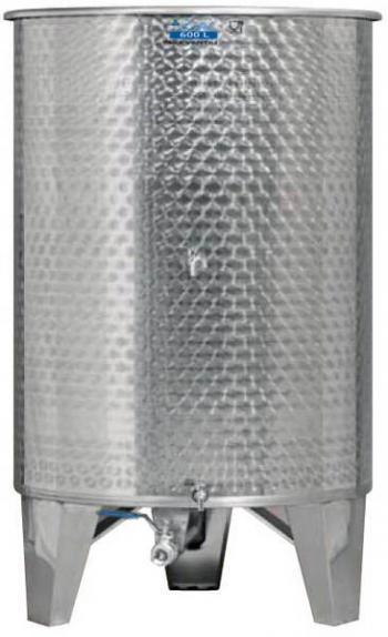 Úszófedeles INOX bortartály 600 l, 3 csapos Kép