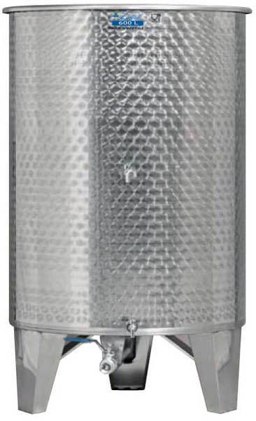 Zottel Úszófedeles INOX bortartály 600 l, 3 csapos
