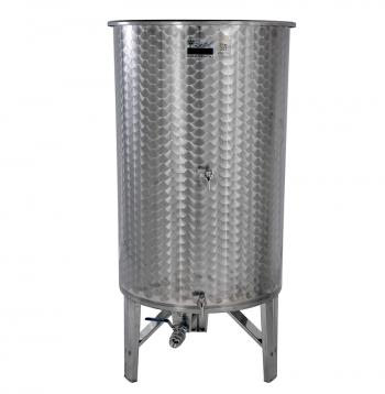 Úszófedeles INOX bortartály 800 l, 3 csapos Kép