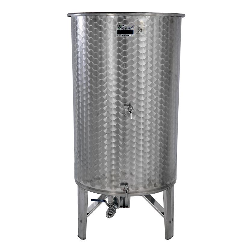 Zottel Úszófedeles INOX bortartály 800 l, 3 csapos