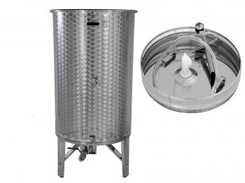 Úszófedeles INOX bortartály 800 l, 3 csapos, pumpás szettel Kép