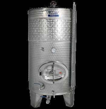 Zárt bortartály, 1100 l hűtőpalásttal Kép