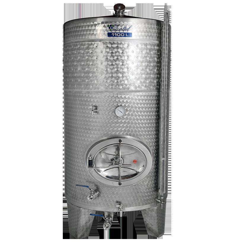 Zottel Zárt bortartály, 1100 l hűtőpalásttal