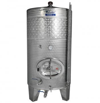 Zárt bortartály, 1500 l hűtőpalásttal Kép