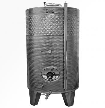 Zárt bortartály, 6400 l hűtőpalásttal Kép