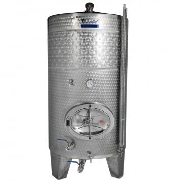 Zárt INOX bortartály 2450 l hűtőbordával Kép